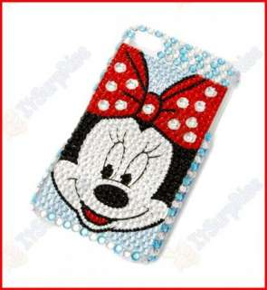 Blue Mouse Crystal Hard Case Cover for Apple iPhone 4 4G 4S 4GS