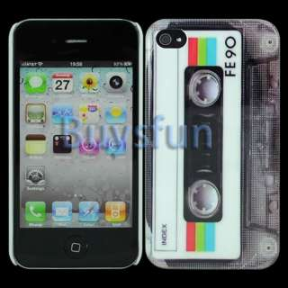 Classic Cassette White Hard Cover Case Skin for Apple iPhone 4 4G 4S
