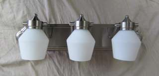 Trans Globe 3 Light Wall Bar Bath Vanity in Brushed Nickel 3213BN