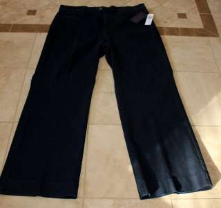 NWT NYDJ Not Your Daughters Jeans Plus Size Trouser Cut Dark Wash 20W