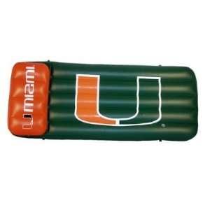 Miami Hurricanes Pool Float Air Mattress 66x27X5Pool
