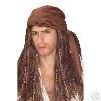 PIRATES OF CARIBBEAN JACK SPARROW PIRATE WIG COSTUME