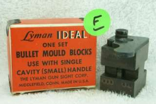 LYMAN IDEAL 1 CAVITY BULLET MOLD 323481   (F)