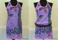 Peacock Lady T Shirt Tunic Tank TOP Mini Dress Sz S M L
