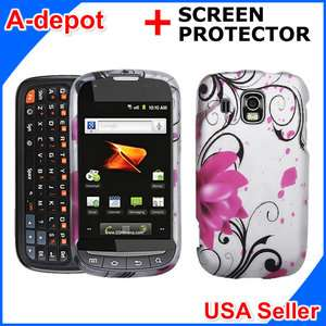 Ultra M930 Boost Mobile Pink Lotus Flower Hard Case Cover +LCD