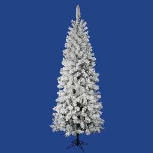 9.5 x 44 Flocked Pacific Pencil Christmas Tree w/ 838T