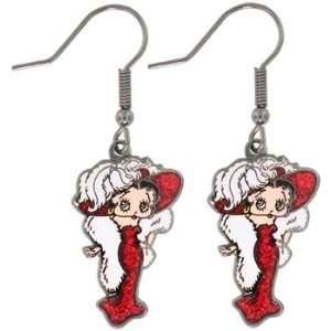 Mae West Betty Boop Charm Dangle Earrings