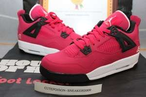 2012 Nike Air Jordan 4 IV GS Voltage Cherry Pink Love Heart 487724 601