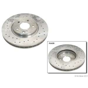 Zimmermann Cross Drilled Disc Brake Rotor Automotive