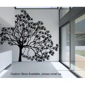 Vinyl Wall Decal Sticker Lopsided Tree size 96inX103in