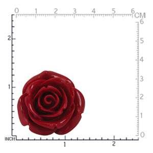 34MM HUGE Red Stainless Steel ROSE/FLOWER Ring(RN2075285.0001)