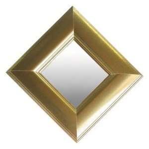 Metallic Gold Finish Mirrors (Set of 3)