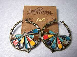 LUCKY BRAND COLORFUL LAMINA STUD EARRINGS FOR *CHRISTMAS GIFT*