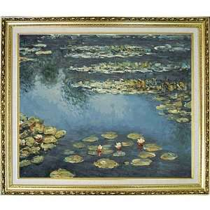 Monet Water Lilies Framed Oil Painting