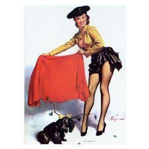 Retro Glamour Prints Pin Up Girl   Gil Elvgren 1950s