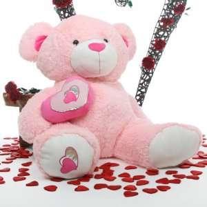 Pie Big Love Large Jumbo Pink Huggable Teddy Bear 47in Toys & Games