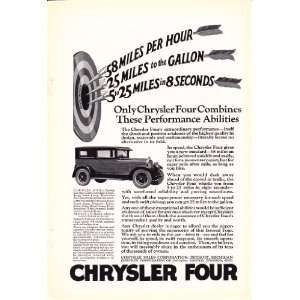 1925 Ad Chrysler Four Club Coupe Original Vintage Car Print Ad