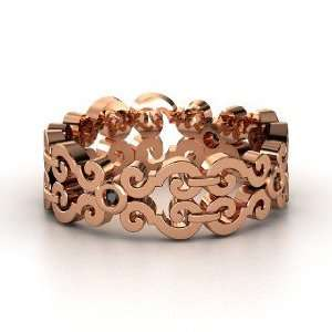 Balcony Band, 14K Rose Gold Ring with Black Diamond Jewelry