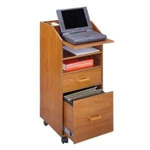 Mobile Organization Lap Top Cart in Cherry by Venture