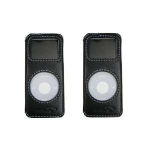 com New Music.Pro iPod Nano Leather Case Color Black, Fits with iPod