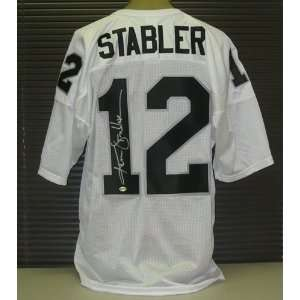 Ken Stabler Signed White Oakland Raiders Jersey  Sports