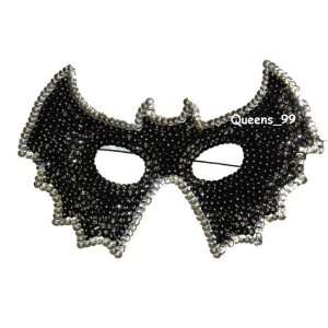 Halloween Mask Sequin Black Masquerade Ball Bat Mask by H
