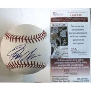 Signed Jeremy Hellickson Baseball   Official M l W jsa