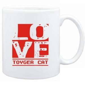 Mug White  LOVE Toyger  Cats