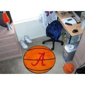 Alabama Crimson Tide Text Basketball Shaped Area Rug Welcome/Bath Mat