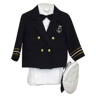 Navy Blue Boys & Baby Boy Captain Sailor Tuxedo Special Occation Suit