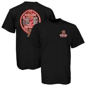 Maryland Terrapins Black 2008 Football Schedule Graphic T