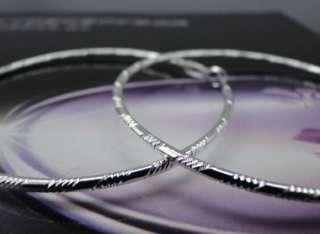 925 Sterling Silver Plated Fashion Hoop Earrings JE103