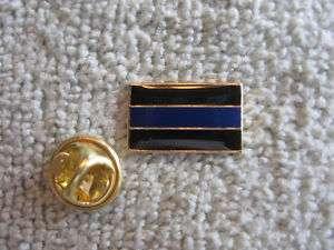 Blue Line Police Lapel Pin Tie Tac Enamel Thin Blue Line Cops