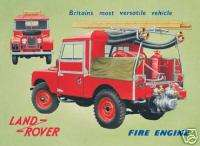 Land Rover Fire Engine Steel Wall Sign (fd ls)