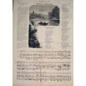 Music Score Sheet Madame Fontaine Song Old Print 1859: Home & Kitchen