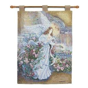 Christian Inspriational ANGEL OF LOVE Tapestry Wall Hanging