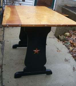 Star Studded.Custom Rustic Cowboy/Western Dining TableFolk Art