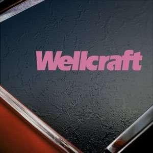 Wellcraft Pink Decal BOAT CRUISER Truck Window Pink