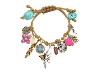 Lucky Brand Tan Leather Charm Bracelet    BOTH