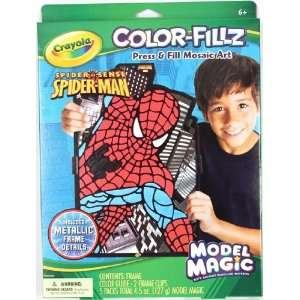 Crayola Model Magic Color Fillz   Spider Man: Toys & Games