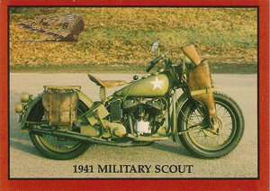 1941 Indian 741 Military Scout Model H Motorcycle 30.07 cu. in. 15