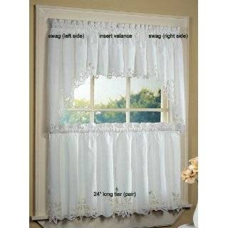 Rooster Kitchen Curtains Tiers Swag Set Country Chicken
