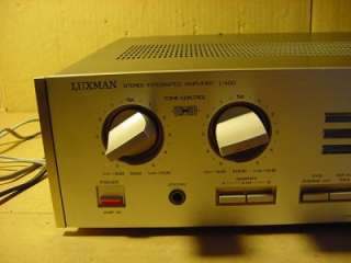 LUXMAN MODEL L 400 STEREO INTEGRATED AMPLIFIER. WORKS GREAT AND IS IN