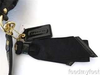 17906 Poppy Black Sequin Gold Cinch Shoulder Bag Purse Handbag Satchel