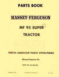 MASSEY FERGUSON MF Super 95 Tractor Parts List Manual