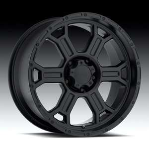 17 Vision Raptor Matte Black Wheels Rims 6x5.5 6x139.7 6 lug Chevy GM