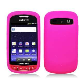 MetroPCS SAMSUNG ADMIRE R720 HOT PINK RUBBER SILICONE SKIN COVER CASE