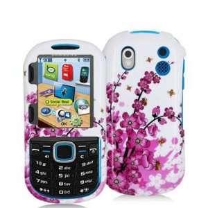 Electromaster(TM) Brand   Pink White Spring Flower Design Crystal Hard