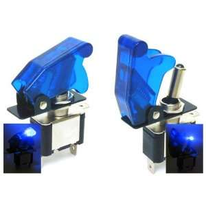 Protector Cover with Illuminated Blue LED Toggle Switch Automotive