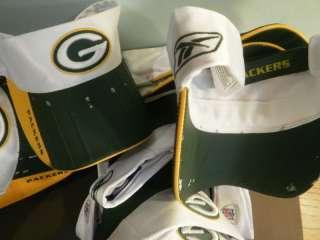 12 GREEN BAY PACKERS Visor Hats New NFL REEBOK WHOLESALE Lot Defective